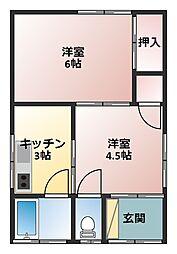 [一戸建] 神奈川県横須賀市野比3丁目 の賃貸【/】の間取り