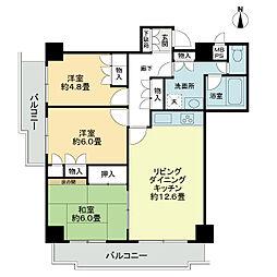 ライオンズマンション三番町[9階]の間取り