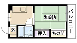 メゾン千里丘[203号室]の間取り