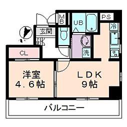 プレデパルク3[6階]の間取り