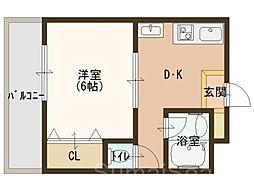 昌和鳳[5階]の間取り