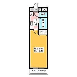 A・City住吉[3階]の間取り