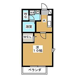 アリュールII[1階]の間取り