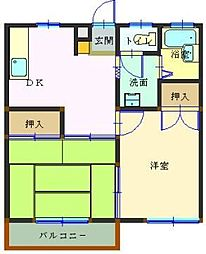 埼玉県本庄市東台2の賃貸アパートの間取り