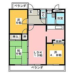 サンフォーレ矢口[8階]の間取り