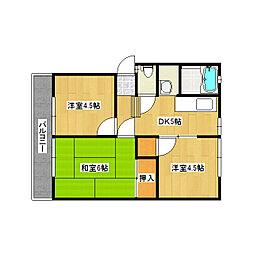 UETAハイツ[2階]の間取り