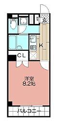 アンプルールフェール福岡[304号室]の間取り