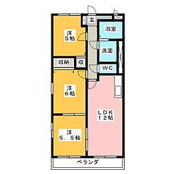 メゾンクラージュ[1階]の間取り
