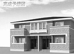 岡山県備前市伊部の賃貸アパートの外観
