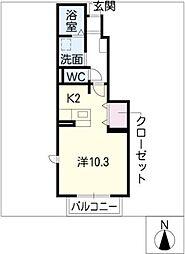 ネネムの森 B棟[1階]の間取り