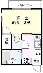 平本コーポ[201号室]の間取り
