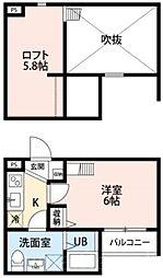 casa fiore[2階]の間取り
