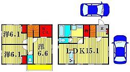 [一戸建] 千葉県松戸市千駄堀1803丁目 の賃貸【/】の間取り