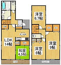 [一戸建] 東京都東久留米市下里2丁目 の賃貸【/】の間取り
