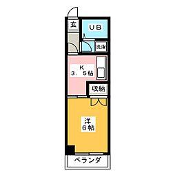 メゾンコモリ[2階]の間取り