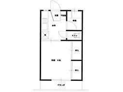 ネギビレッヂ[2階]の間取り