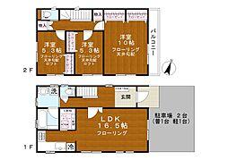 [一戸建] 東京都足立区神明2丁目 の賃貸【/】の間取り
