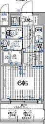 エスリード大阪梅田リュクス 9階1Kの間取り