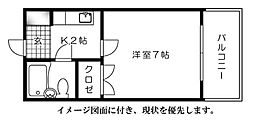 広島県広島市東区山根町の賃貸マンションの間取り