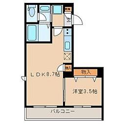 maison de K[103号室]の間取り