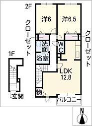 アルドーレ73[2階]の間取り