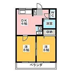 赤尾ハイツ正観寺[1階]の間取り