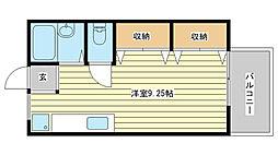 サンライフ21 A棟[201号室]の間取り