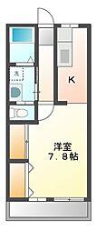 レジデンスKFC[3階]の間取り