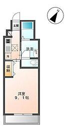 木更津市金田東5丁目新築アパート[102号室]の間取り