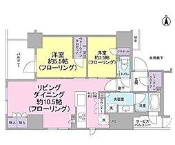 ルネ神田和泉町[10階]の間取り
