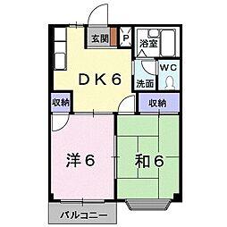 エルディムMUROTA A[203号室]の間取り