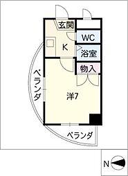 エクセレンス鳩岡[9階]の間取り