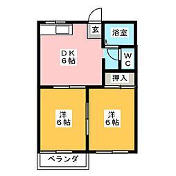 タウニー小野[2階]の間取り