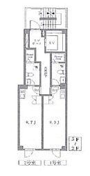 東京メトロ銀座線 末広町駅 徒歩3分の賃貸マンション 3階ワンルームの間取り