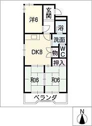 川口ビル A棟[2階]の間取り