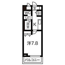 フォレスタ長居[2階]の間取り