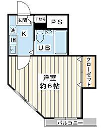 ジュネッタ9[2階]の間取り
