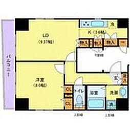 東京メトロ半蔵門線 水天宮前駅 徒歩3分の賃貸マンション 7階1LDKの間取り
