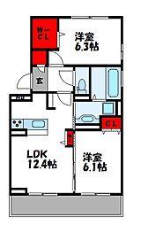 D-roomS・K A棟[1階]の間取り