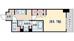 ザ・パークハビオ堂島 12階1Kの間取り