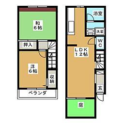 Appartmentサンク[2階]の間取り