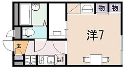 レオパレス久宝寺[2階]の間取り