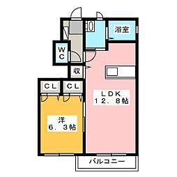 プレステージIT B[1階]の間取り