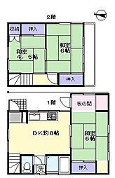 [一戸建] 埼玉県さいたま市中央区大戸1丁目 の賃貸【/】の間取り