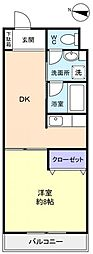 ボナール花島[4階]の間取り