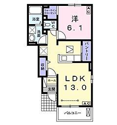 ラ ポルト[1階]の間取り