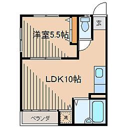 成瀬ハイツ[2階]の間取り