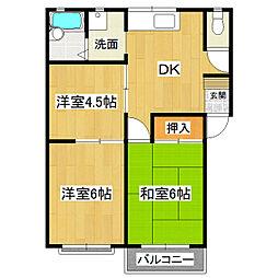 コーポ秋田C[1階]の間取り