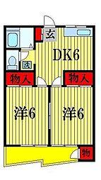 第1アンビルマンション[2階]の間取り