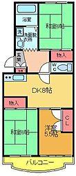 エクセルエステートヨシダII[3階]の間取り